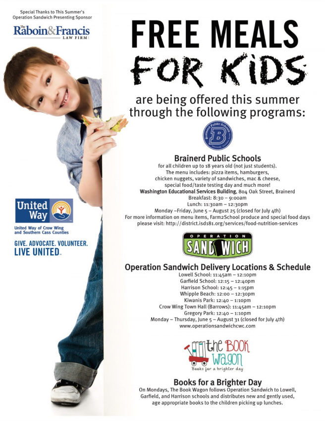 Operation Sandwich 2017 | United Way of Crow Wing and ...
